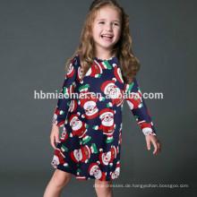 Familie Kleidung Sets O Neck Kleid Weihnachten tragen trendige Blume gedruckt Eltern-Kind Kleidung