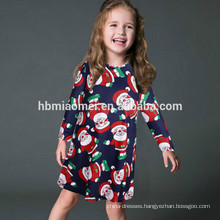 Family Clothing Sets O Neck Dress Christmas Wear Trendy Flower Printed Parent-child Clothing