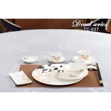 OEM creative ceramic pottery tableware, dinnerware set for 6 person