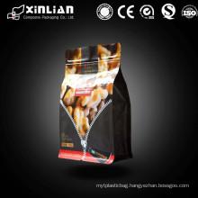Factory price flat Bottom Zipper bag and Side Gusset Zipper Pouch