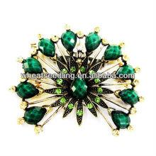 2014 Fashion Flower Design Green Acrylic Brooch BR01