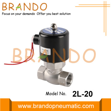 "2L-20 3/4 ""220VAC Stainless Steel Steam Solenoid Valve"