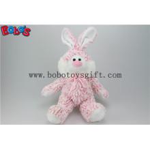 """10 """"rosa Plüsch gefüllte Kaninchen Tier Spielzeug mit rosa Band Bos1143"""