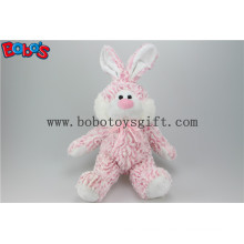 "10"" Pink Plush Stuffed Rabbit Animal Toy with Pink Ribbon Bos1143"