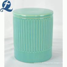 Venda quente popular estilo de moda recipiente de armazenamento de cerâmica galaze tanque selado