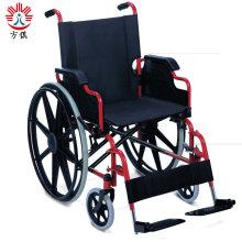 Hospital Furniture Steel Manual Foldable Wheel Chair