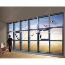 Ventanas de vidrio fijas / ventanas de vidrio grandes / ventana de aluminio fija / guangzhou