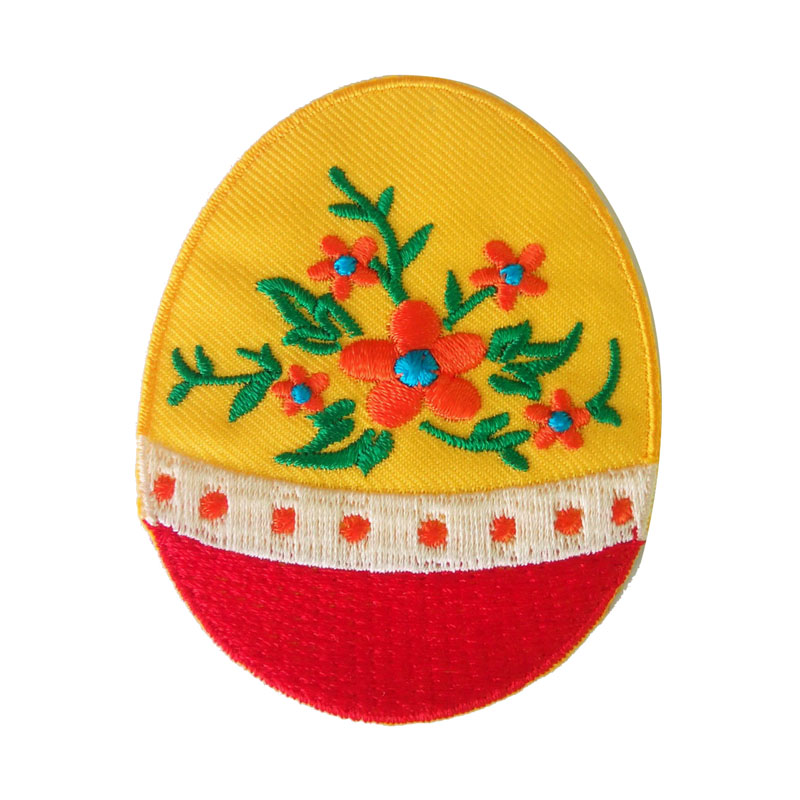 Embroidered Easter Egg Iron On Patch Badge