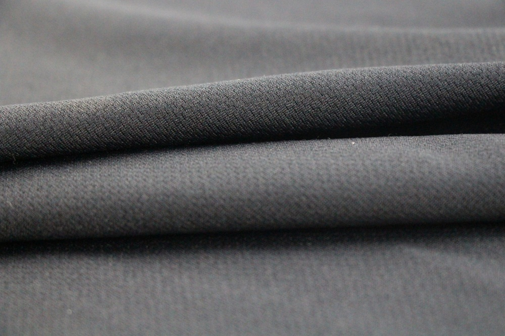 Polyester and Cotton Black Flame Retardant Knitting Fabric