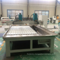 cnc router 4 axis with rotary axis 2 spindles, water tank for stone wood acrylic