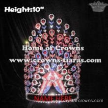 Wholesale Rhinestone Circus Troupe Pageant Peacock Crowns