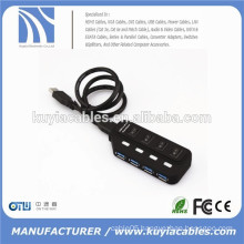 Super high speed USB 3.0 4ports Hub Splitter 4 Ports with Switch for pc laptop