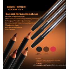 Lápis de design de maquiagem permanente à prova d'água para lábios / sobrancelhas