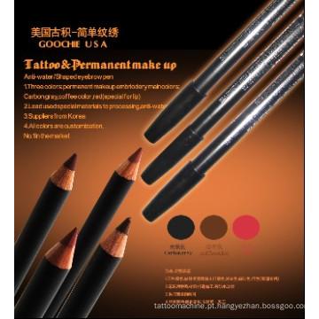 Lábios de maquiagem permanente profissional / lápis de sobrancelha para tatuagem