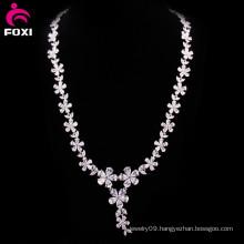 Hot Fashion Flower Design Zircon Women Necklace