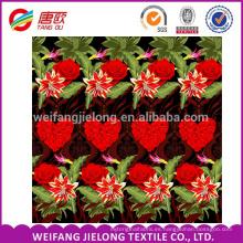 Tela de sarga de algodón de impresión reactiva con pigmento WEIFANG para sábanas