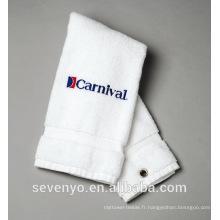 100% coton blanc serviette de sport GYM serviette de sport logo personnalisé ST-014