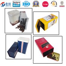 Hinged Custom Size Metal Coffee Packaging for Coffee Tea