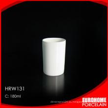 línea aérea uso china blanco cerámica taza de café sin mango