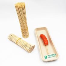 Bulk Custom Logo Bamboo Skewers Barbecue Disposable Bamboo Sticks