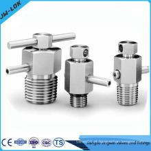 Válvula de purga e válvula de purga de alta pressão em aço inoxidável