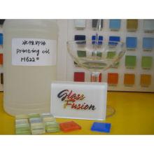 matériau de construction verre mosaïque tampon tampon encre avec de la poudre blanche