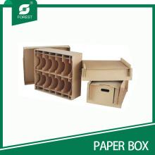 Acepte la caja de empaquetado de la cartulina de Brown de encargo con los divisores