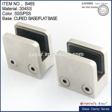 big size die-cast stainless steel bathroom glass clamp
