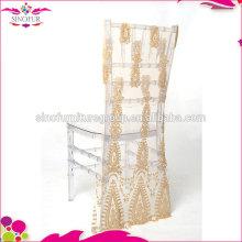 sinofur elegant wedding sequin chair cover wholesale