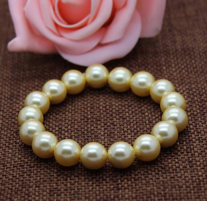 Gold Round Pearl Bracelets