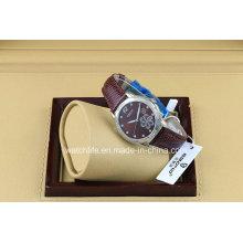Impression de fleurs avec montre de montres de diamant Quartz Ladies