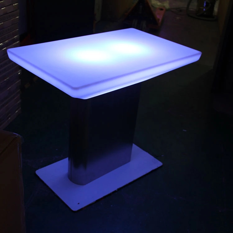 Modern Design Plastic Led Tables