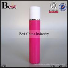 35мл пластиковый прекрасный розовый флакон духов, с нержавеющим шаром прекрасный розовый флакон духов