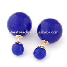 2016 hot wholesale latest artificial double sided new design earrings resin