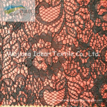 Lace Fabric Bonded With Polyester Fabric For Everyning Dress