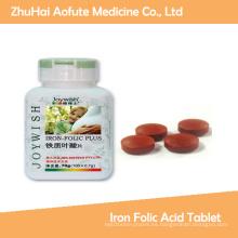 De Buena Calidad Medicial Hierro ácido fólico Tablet