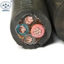 cabo de poder flexível do núcleo h07vvf resistente de borracha do ycw 4c x 1.5mm 5