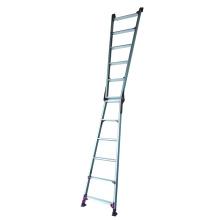 Uma escada de alumínio Frame com pés reguláveis
