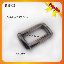 RB02 Boucle de métier en métal personnalisée pour boucle et boucle de sac