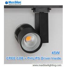 45W CREE COB LED + iluminación de la pista del conductor de Philips con 5 años de garantía