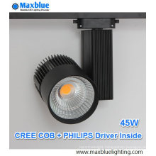 45W CREE COB LED+Philips Driver Track Lighting with 5-Year Warranty