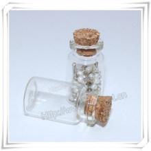 Religious Metal Bottle, Round Glass Bottle, Cross Bottle, Rosary Bottle (IO-p035)