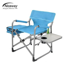 Salón de sol que acampa del acero portátil moderno del metal con la silla plegable más fresca del bolso de la tabla de la taza