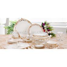 Nuevo diseño en relieve 42% hueso de ceniza magnífico Contenedor de porcelana de hueso fino