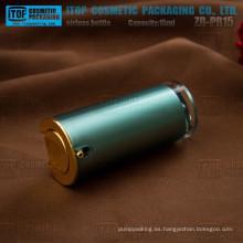 ZB-PR15 15ml venta caliente popular y clásica taper redondeada botella privada de aire 15ml