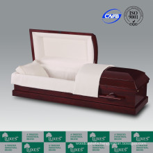 LUXES US Popular Style Casket&Coffin For Funeral Red Caskets