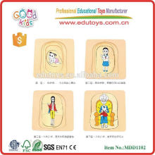 Educational story of a woman wooden puzzle