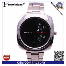 YXL-368 человек смотреть квадратных лицо хронограф кварцевые Нержавеющая сталь часы Paidu бизнес роскошь часы оптом