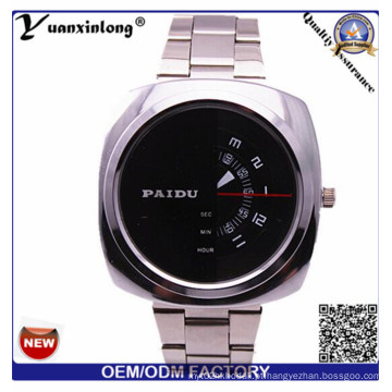 Yxl-368 Homem Relógio Quadrado Rosto Cronógrafo De Quartzo De Aço Inoxidável Relógio Paidu Negócios De Luxo Mens Relógios Atacado
