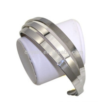 Cute Style Stainless Steel 3 Layer Channel Platinum Plated Cuff Bracelet Women
